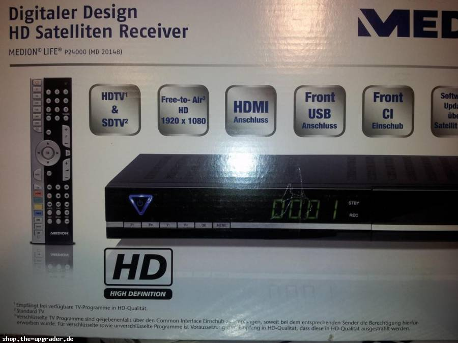 digitaler satelliten receiver medion md 26078 p24030 ebay. Black Bedroom Furniture Sets. Home Design Ideas